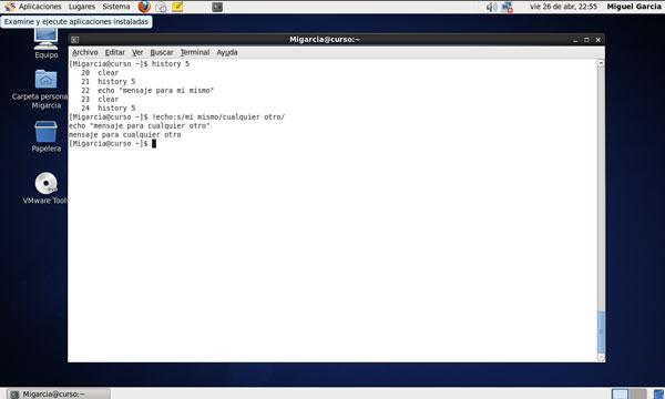centosco6 Empezando con Linux. Comandos básicos